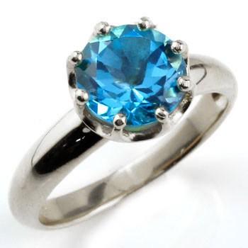 ブルートパーズ プラチナリング 指輪  ピンキーリング 大粒 一粒 pt900 レディース 11月誕生石