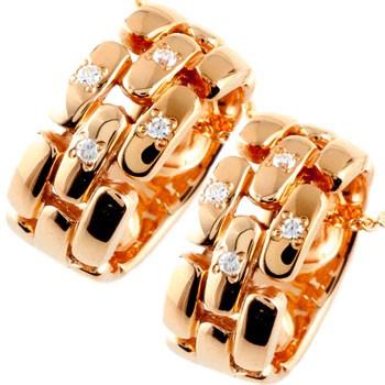 ペアネックレス ダイヤモンド ネックレス ペンダント ピンクゴールドk18 ダイヤ リングネックレス チェーン 人気