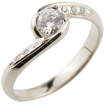 ダイヤモンド リング ダイヤ 大粒 指輪 ダイヤモンドリング ホワイトゴールドk18