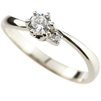ダイヤモンド リング 指輪 ピンキーリング ホワイトゴールドk18