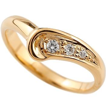 ダイヤモンドリング 指輪 ダイヤリング ピンキーリング ピンクゴールドk18