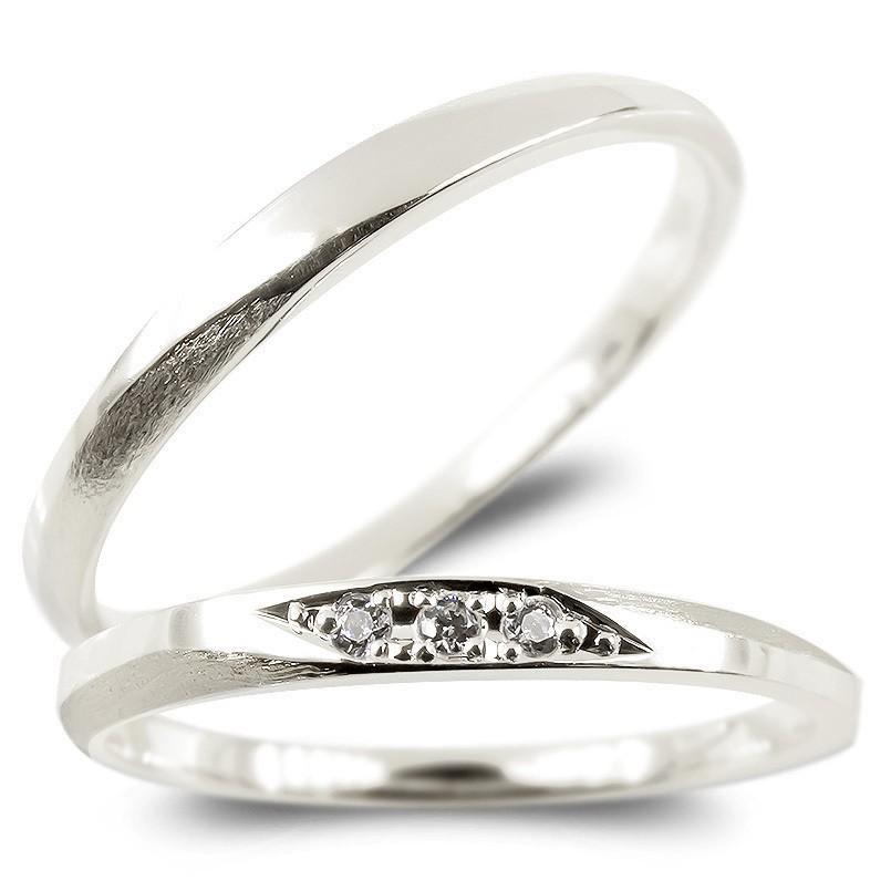 ペアリング プラチナ ダイヤモンド 結婚指輪 マリッジリング つや消し pt900