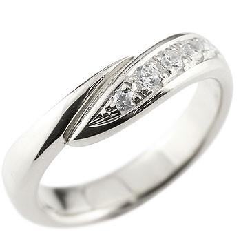 ダイヤモンド リング 指輪 ピンキーリング ダイヤ ダイヤモンドリング ホワイトゴールドk18 スパイラル ウェーブリング 18金 レディース