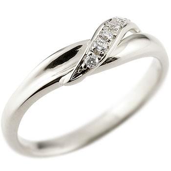 ダイヤモンド ハードプラチナ950  ピンキーリング ダイヤ pt950 ストレート 指輪