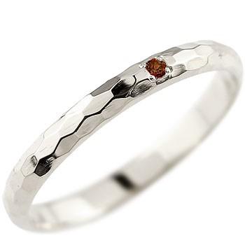 ガーネット ピンキーリング プラチナリング 指輪 一粒 1月誕生石