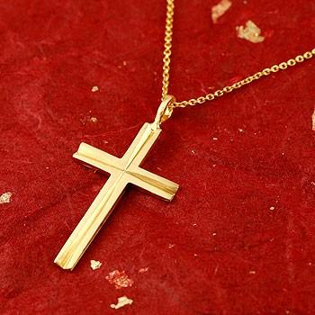 純金 クロス 十字架 ペンダント ネックレス 24金 k24 レディース