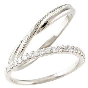 ペアリング プラチナ 結婚指輪 マリッジリング ハーフエタニティ ダイヤモンド プラチナリング  pt900 極細 華奢 結婚式 ストレート