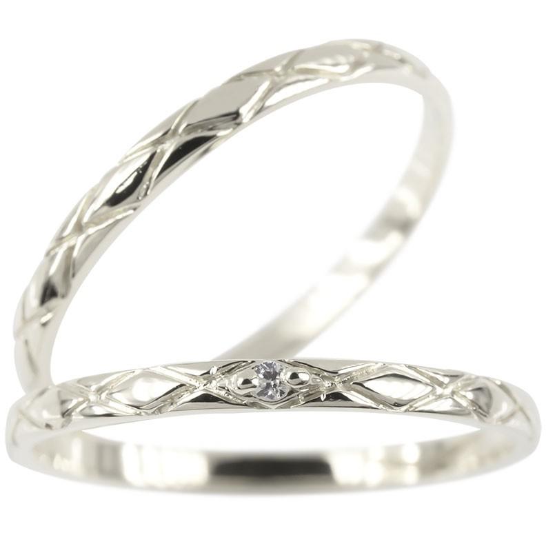 ペアリング 結婚指輪 マリッジリング ダイヤモンド プラチナリング ダイヤ pt900 極細 華奢 アンティーク 結婚式 ストレート
