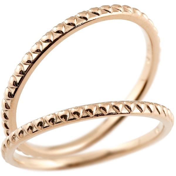 ペアリング 結婚指輪 マリッジリング ハート ピンクゴールドk10 極細 華奢 アンティーク 10金 結婚式 ストレート ペアリィー