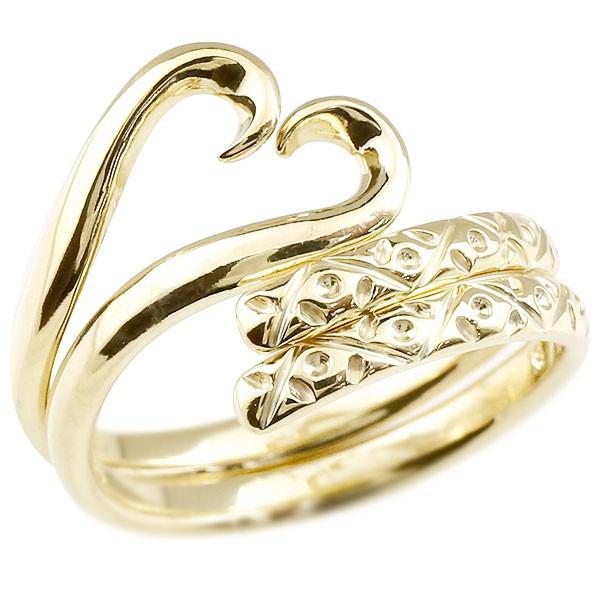 スイートハグリング ペアリング 結婚指輪 マリッジリング イエローゴールドk10 フリーサイズリング 指輪 ハンドメイド 結婚式
