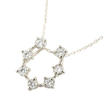 馬蹄 ネックレス ダイヤモンド ホースシュー 蹄鉄 ペンダント ホワイトゴールドk18 ダイヤ 18金 チェーン 人気