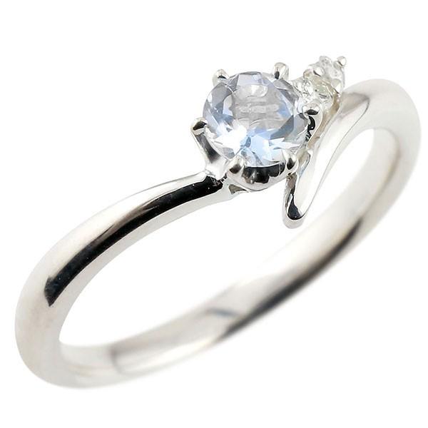 婚約指輪 エンゲージリング ブルームーンストーン ホワイトゴールドリング ダイヤモンド 指輪 ピンキーリング 一粒 大粒 k10 レディース 6月誕生石