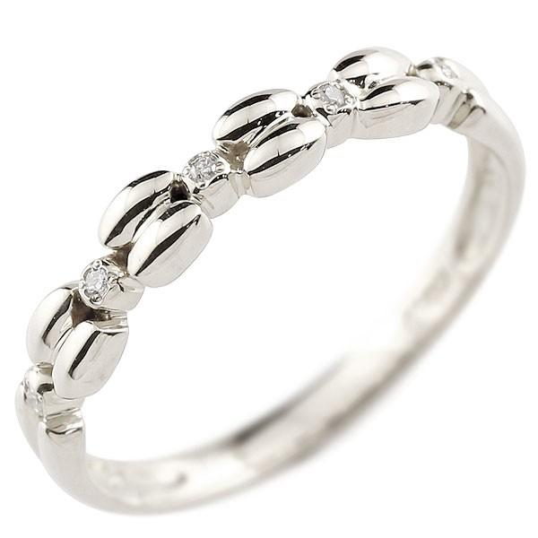 ダイヤモンド シルバーリング ピンキーリング ダイヤ sv925 極細 華奢 アンティーク ストレート 指輪