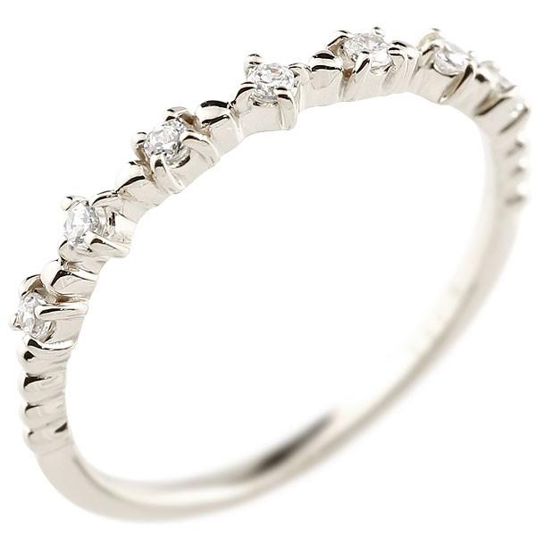 キュービックジルコニア プラチナリング ピンキーリング キュービック sv925 極細 華奢 アンティーク ストレート 指輪