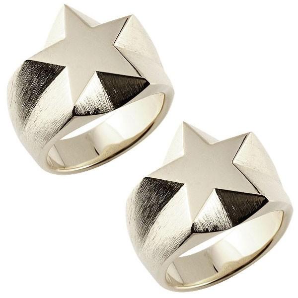 メンズ ゴールド ペアリング 星 指輪 印台リング  ペアリング  ダイヤモンド k18 男性用