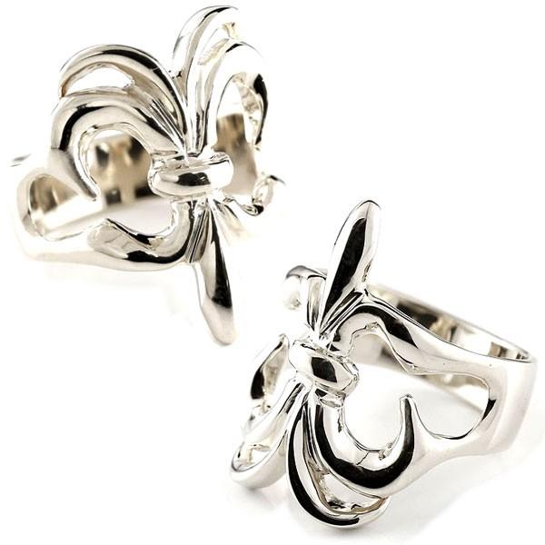 メンズ プラチナ ユリの紋章 ペアリング 指輪 ペアリング pt900 男性用