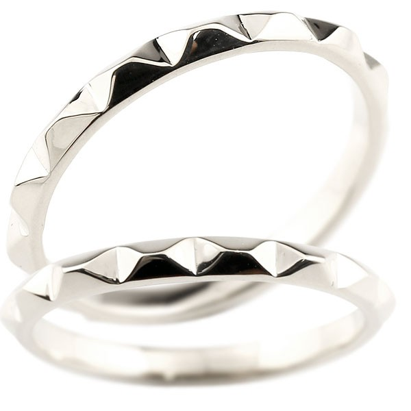 マリッジリング 結婚指輪 ホワイトゴールドk18 ペアリング ストレート カップル 18金 宝石なし 地金 メンズ レディース