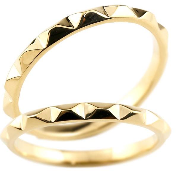 マリッジリング 結婚指輪 イエローゴールドk18 ペアリング ストレート カップル 18金 宝石なし 地金 メンズ レディース