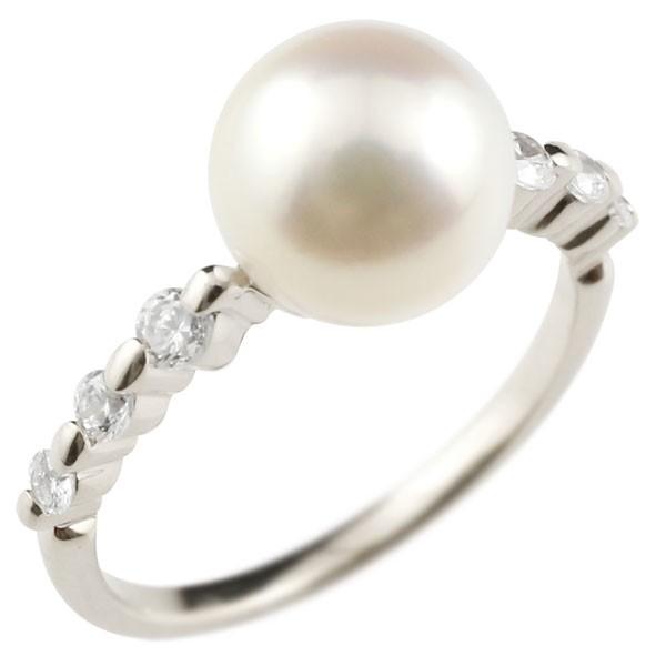 ピンキーリング 真珠 パール プラチナ900 リング  指輪