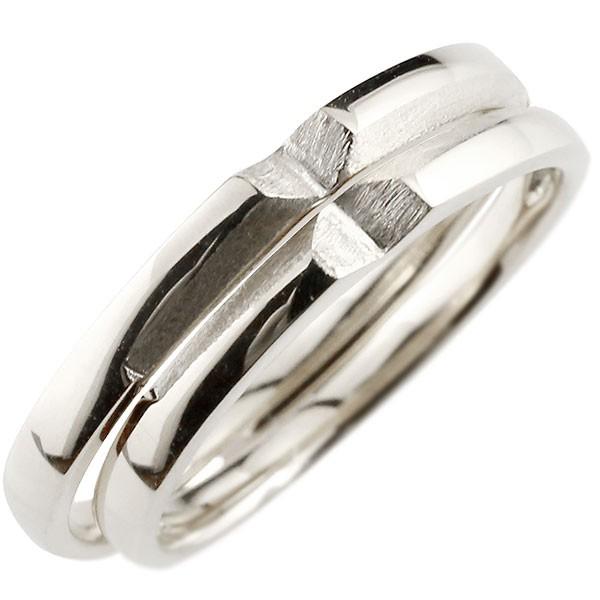 ペアリング 結婚指輪 マリッジリング ホワイトゴールドk10 つや消し