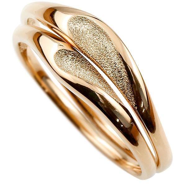 ペアリング 結婚指輪 マリッジリング ピンクゴールドk18 つや消し