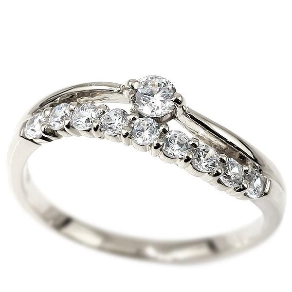 プラチナリング ダイヤモンド 指輪 ピンキーリング