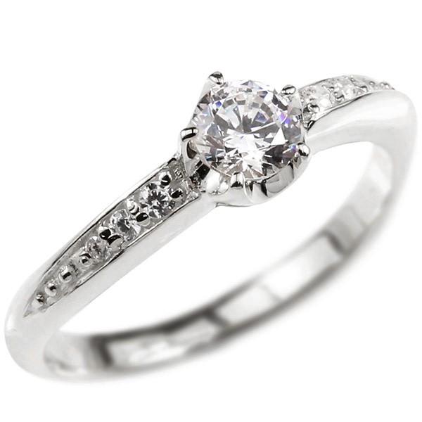 婚約指輪 プラチナリング ダイヤモンド エンゲージリング ダイヤ 一粒 大粒 指輪 ピンキーリング pt900 宝石 レディース