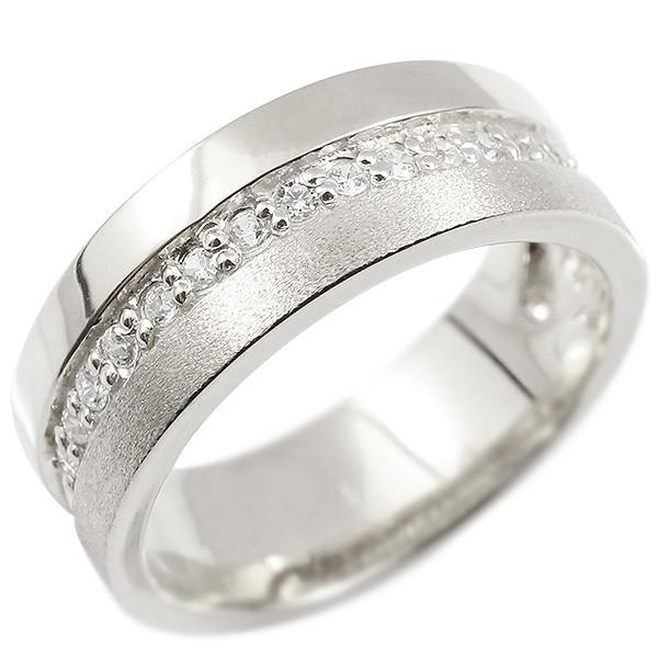 婚約指輪 リング シルバー925 ダイヤモンド エンゲージリング ダイヤ 指輪 幅広 つや消し ピンキーリング sv925 宝石 レディース