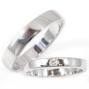 【送料無料・結婚指輪】マリッジリング,ペアリング,ダイヤモンド,ホワイトゴールドk18☆2本セット☆指輪【工房直販】特別価格