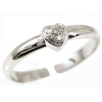 【送料無料】トゥリング:足の指輪:プラチナリング:ダイヤモンド:PT900:ハートモチーフ:4月の誕生石ダイヤモンド:特別価格【工房直販】