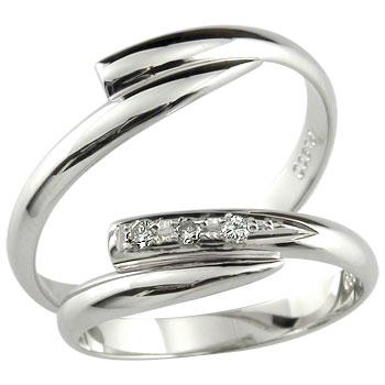 ペアリングプラチナ900ダイヤモンド指輪【工房直販】