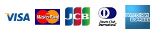 使用可能なクレジットカード(VISA、Master、JCB、AMEX、NICOS)