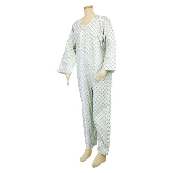 選べる6色! テイコブ エコノミー上下続き服 男女共用 介護用パジャマ つなぎ 寝巻き ねまき 介護用品|attakarental|05