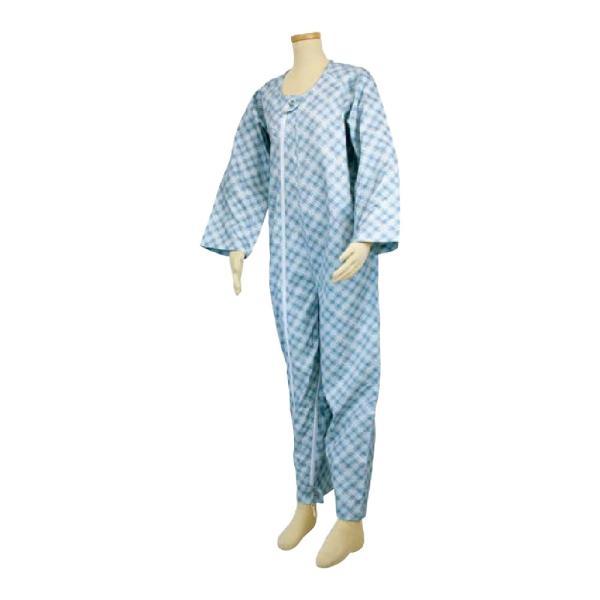 選べる6色! テイコブ エコノミー上下続き服 男女共用 介護用パジャマ つなぎ 寝巻き ねまき 介護用品|attakarental|10