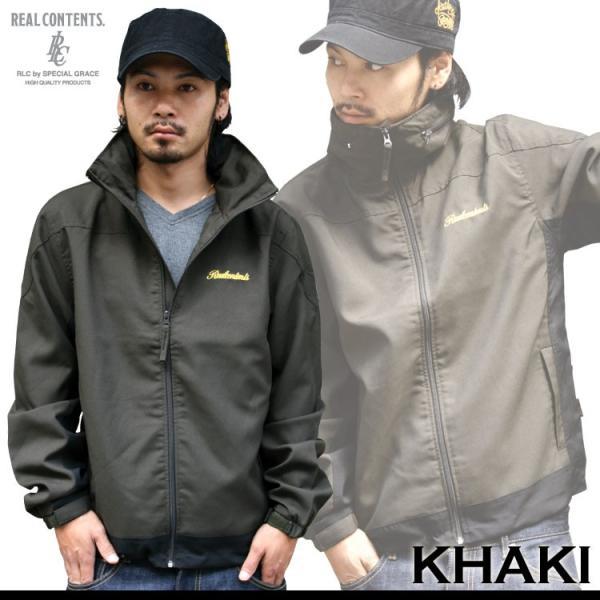 ジャージ メンズ ジャケット ブルゾン ナイロンスタンド REALCONTENTS リアルコンテンツ 大きいサイズ XL XXL アメカジ ストリート系 ファッション|attention-store|08