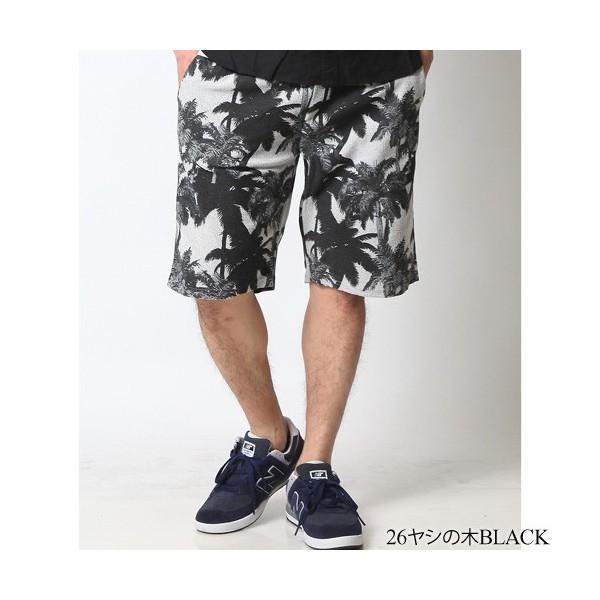 ショートパンツ メンズ ハーフパンツ ショーツ 短パン 半ズボン イージーパンツ ボーダー 総柄 星条旗 黒 ネイビー M L XL 2L LL 大きいサイズ|attention-store|25