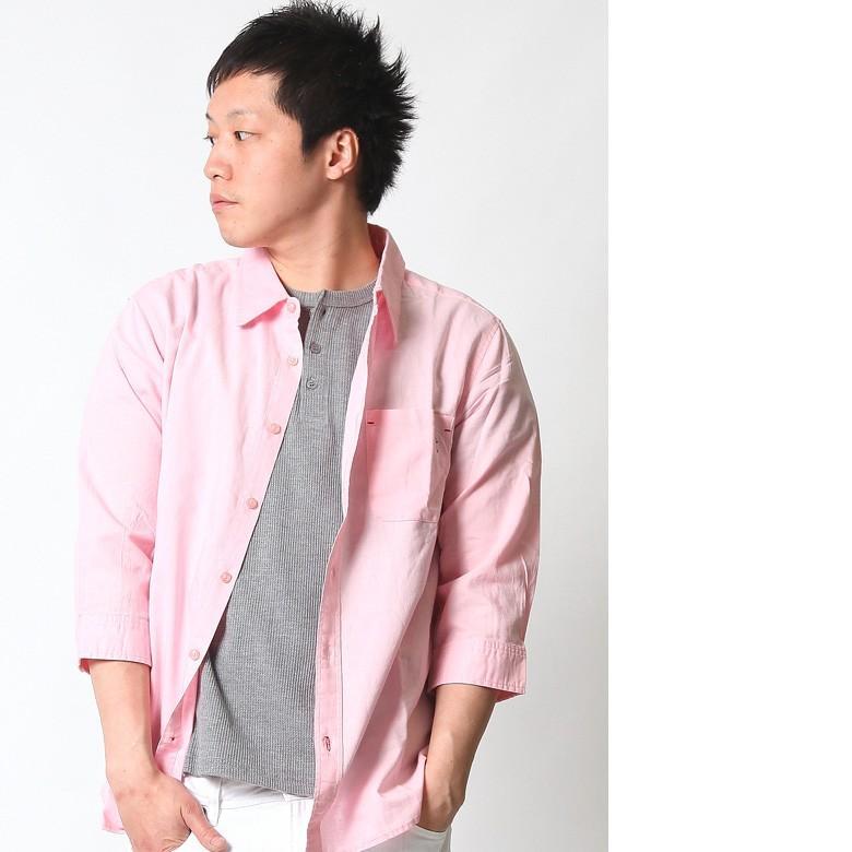 シャツ メンズ 綿麻 7分袖 おしゃれ 白 黒 カジュアルシャツ アメカジ ビジネス リネンシャツ 白 ホワイト 紺 ネイビー M L XL XXL ストリート系 春 刺繍|attention-store|22