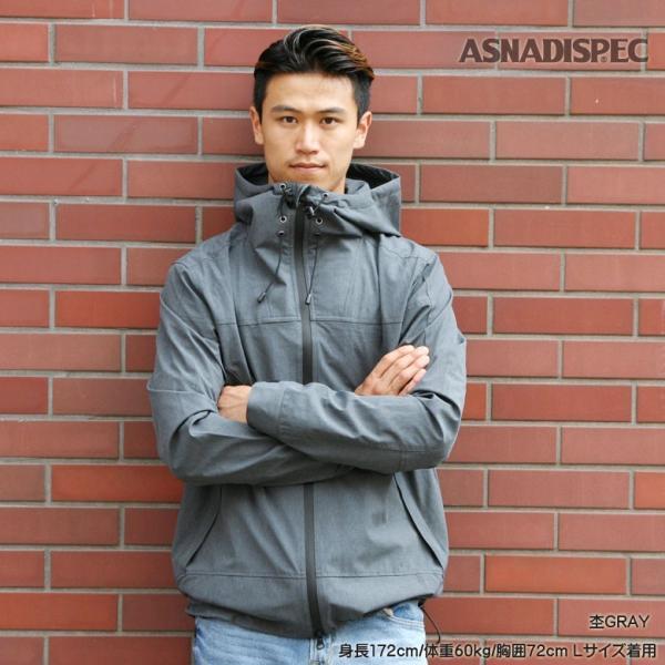 ASNADISPEC マウンテンパーカー メンズ ジャケット カモフラ 迷彩 アウター ストレッチ アスナ アスナディスペック M L XL XXL 大きいサイズ attention-store 17
