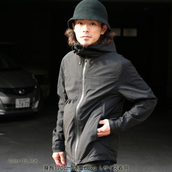 REALCONTENTS マウンテンパーカー メンズ ジャケット マンパ ライトアウター フード 止水ジップ リアルコンテンツ ストリート 黒 ブラック M L XL XXL attention-store 16