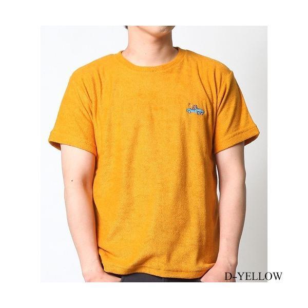Tシャツ メンズ 半袖 パイル生地 ナノテック NANOTEC アメカジ ストリート 黒 白 ピンク イエロー ネイビー M L XL LL 2L プリント ロゴ カットソー タオル生地|attention-store|32