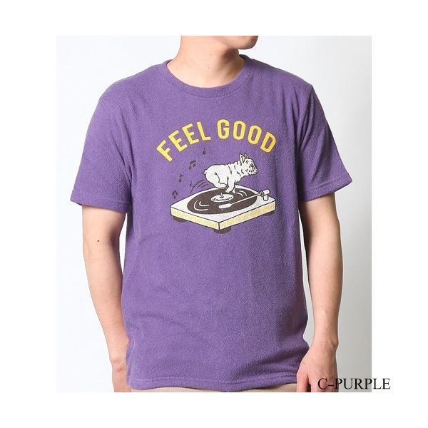 Tシャツ メンズ 半袖 パイル生地 ナノテック NANOTEC アメカジ ストリート 黒 白 ピンク イエロー ネイビー M L XL LL 2L プリント ロゴ カットソー タオル生地|attention-store|29