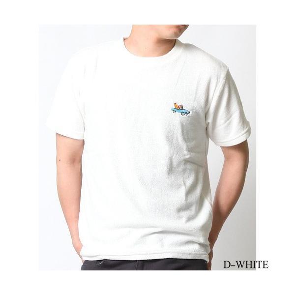 Tシャツ メンズ 半袖 パイル生地 ナノテック NANOTEC アメカジ ストリート 黒 白 ピンク イエロー ネイビー M L XL LL 2L プリント ロゴ カットソー タオル生地|attention-store|30