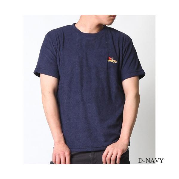 Tシャツ メンズ 半袖 パイル生地 ナノテック NANOTEC アメカジ ストリート 黒 白 ピンク イエロー ネイビー M L XL LL 2L プリント ロゴ カットソー タオル生地|attention-store|31
