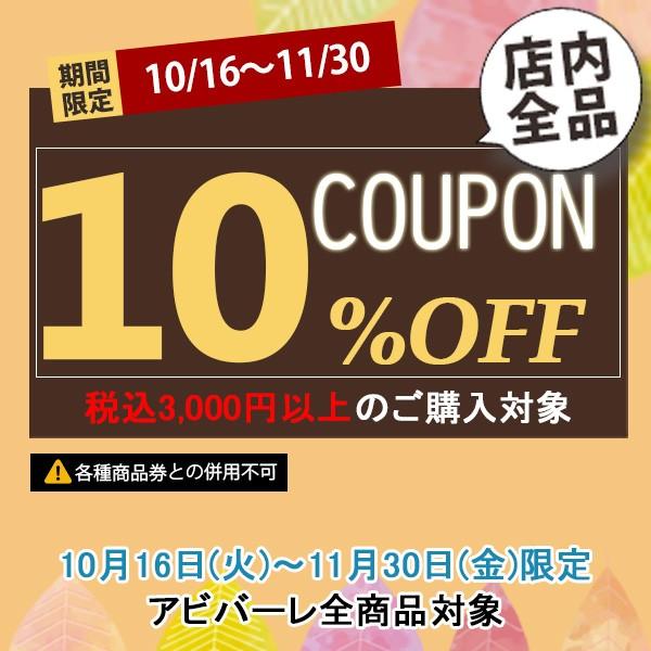 3,000円以上購入でストア全品10%OFFクーポン