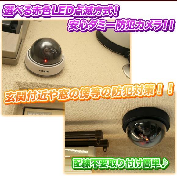 防犯カメラ ダミーカメラ ドーム 屋内 乾電池 白 黒