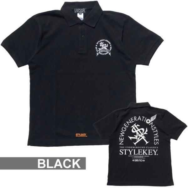 STYLEKEY スタイルキー ポロシャツ ARCADE 鹿の子 S/S POLO(SK18SP-PL02) ストリート系 B系 大きいサイズ|b-bros|06