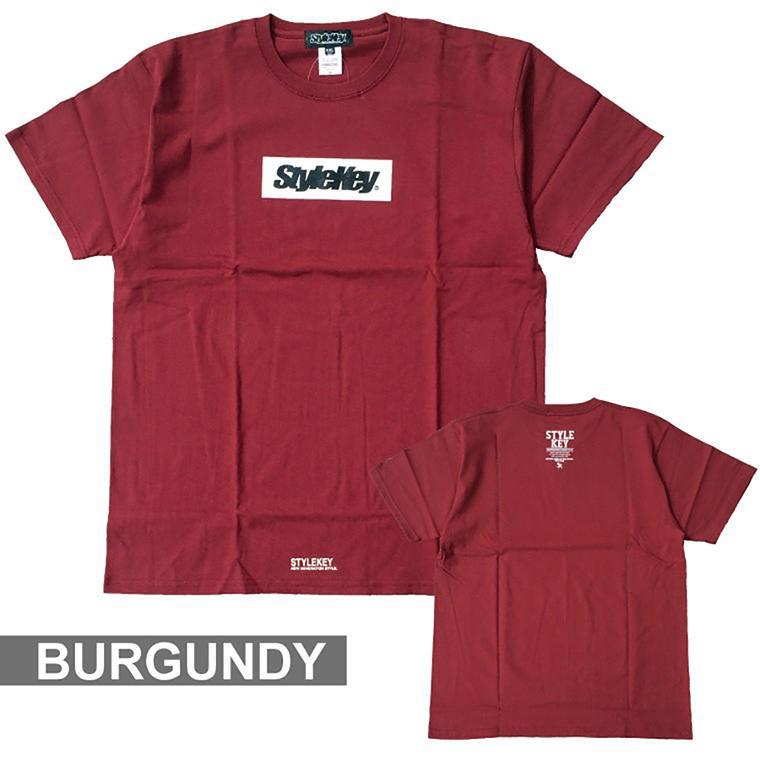 STYLEKEY(スタイルキー) 半袖Tシャツ BOX LOGO S/S TEE(SK21SP-SS03) ストリートファッション ヒップホップ レゲエ ダンス スケート B系 定番ロゴ 大きいサイズ|b-bros|15