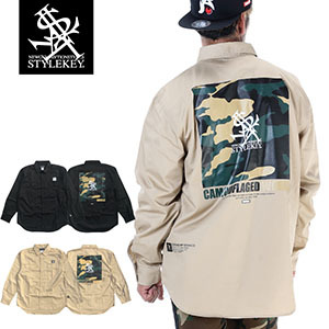 STYLEKEY/スタイルキー/CAMOUFLAGED WORLD L/S WORK SHIRT/商品ページ