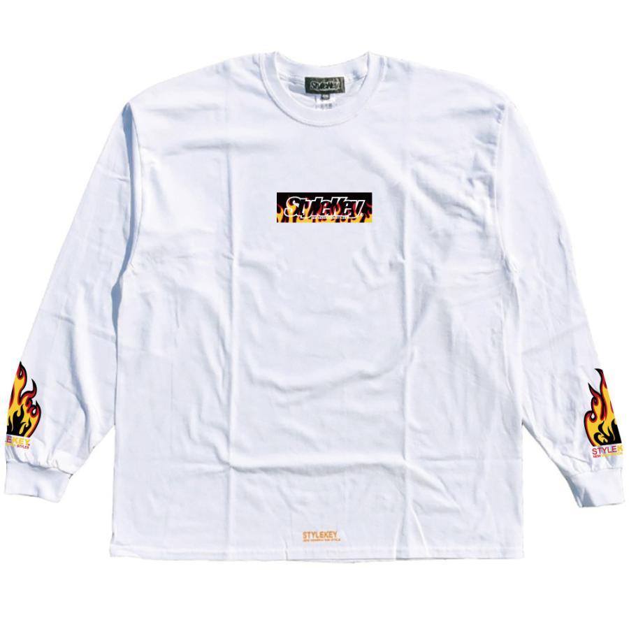 STYLEKEY(スタイルキー) 長袖Tシャツ FIRE BOX L/S TEE(SK21FW-LS05) ロングスリーブTシャツ ストリート ヒップホップ レゲエ B系 ボックス ロゴ 大きいサイズ|b-bros|08
