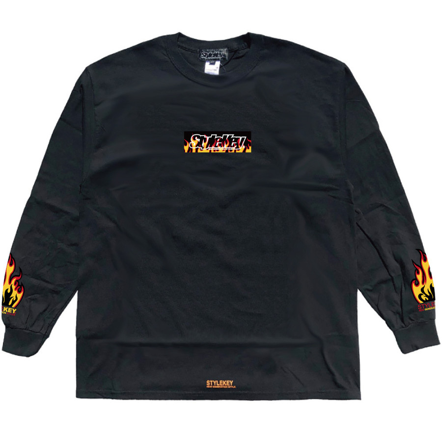 STYLEKEY(スタイルキー) 長袖Tシャツ FIRE BOX L/S TEE(SK21FW-LS05) ロングスリーブTシャツ ストリート ヒップホップ レゲエ B系 ボックス ロゴ 大きいサイズ|b-bros|09